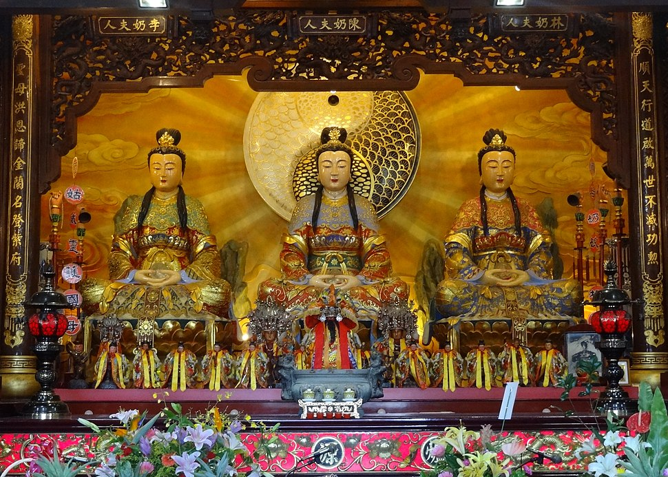 Waterside Dame and attendants at the Temple in Harmony with Heaven in Luodong, Yilan, Taiwan