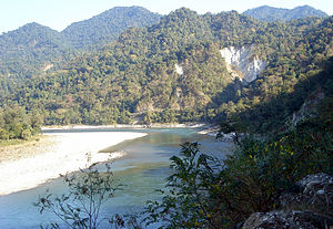 Manas River - Manas Wildlife Sanctuary in the Manas valley