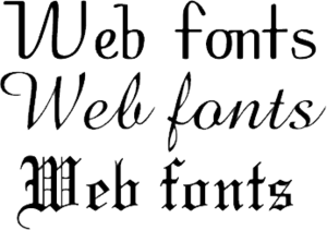 Web typography - Web fonts allow Web designers to use fonts that are not installed on the viewer's computer.