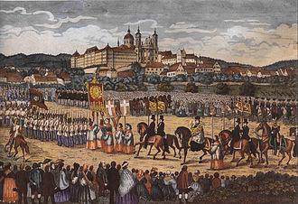 Blutritt - Blutritt in Weingarten, c. 1865