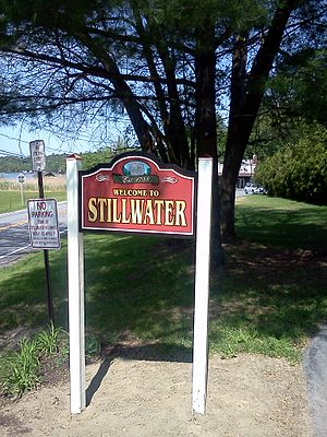 Stillwater, New York - Welcome to Stillwater sign