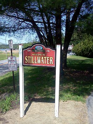 Stillwater, New York - Welcome to Stillwater sign