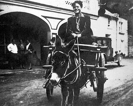After graduating, 16-year-old Welles embarked on a painting and sketching tour of Ireland and the Aran Islands, traveling by donkey cart (1931) Welles-Ireland-1931.jpg