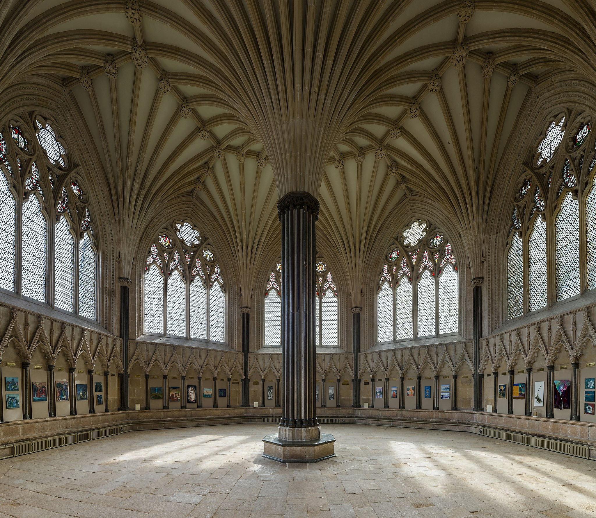 Wells Cathedral Chapter House, Somerset, UK - Diliff