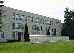 High school in West Rutland