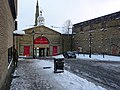 West entrance to the Piece Hall in the snow - geograph.org.uk - 1734983.jpg