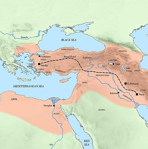 Western part of the Achaemenid Empire