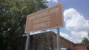 Westmoreland, Houston - Sign