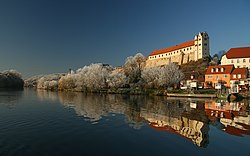 Wettin Castle on the Saale river