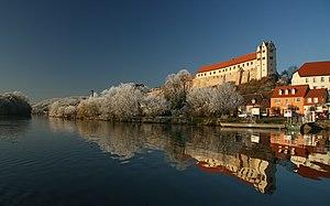 Wettin, Saxony-Anhalt - Wettin Castle on the Saale river
