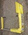 Wheel Clamp New Orleans on ground Open showing Key Pad.JPG