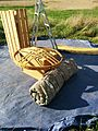 Whistle Wood and taking the yurt to bits see roof top October 2015.jpg