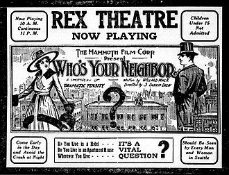 Who's Your Neighbor? - Contemporary newspaper advertisement for the film.