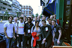 Wikimania Steward meetup 2014.jpg