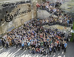 Wikimedia Conference 2017 – Group photo 2 (big) with WMCON logo.jpg