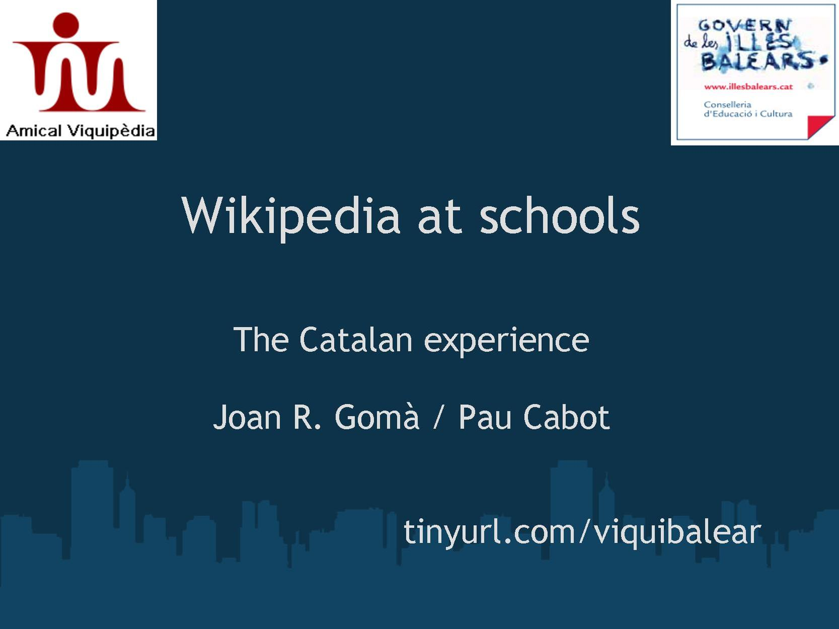 Wikipedia at schools. The Catalan experience.pdf