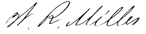 William Read Miller - Image: William Read Miller signature