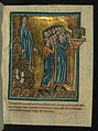 William de Brailes - The Israelites Worship the Golden Calf and Moses Breaks the Tablets (Exodus 32 -1-19) - Walters W10613R - Full Page.jpg