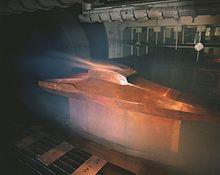 Un test en soufflerie réalisé, ici, sur la maquette d'une navette spatiale.