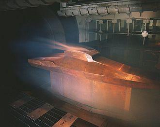 NASA X-43 - Image: Wind tunnel x 43