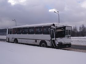 Winter 2007 - Wałbrzych, bus accident