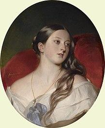 Königin Victoria 1843, Gemälde von Franz Xaver Winterhalter (Quelle: Wikimedia)
