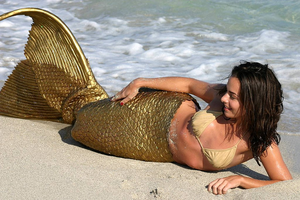 Woman in a Mermaid costume