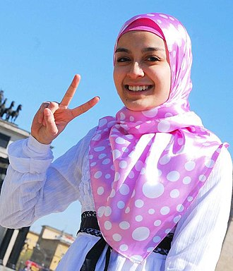 Pink - Image: Woman of Malaysia at the Spring Fest 2009 in Moscow, Russia