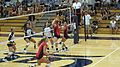 Women's volleyball, Fresno State at Cal 2010-09-11 5.JPG