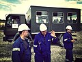 Workers and a Star 944 truck at the Turów Coal Mine 4.jpg