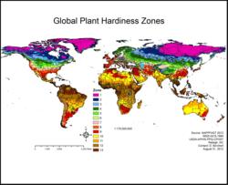 Global Plant Hardiness Zones