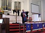 Un culte dans une église presbytérienne de Virginie.