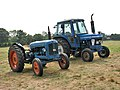Worstead Festival 2008 - two blue tractors - geograph.org.uk - 897847.jpg