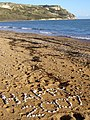Written in stones on Ringstead Beach - geograph.org.uk - 266895.jpg