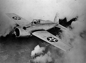 Grumman F3F - The better known F4F Wildcat of World War II was a monoplane development of an improved F3F biplane design. This XF4F-3 prototype clearly shows the family lines.