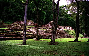 Yaxchilan - View of the Main Plaza at Yaxchilan