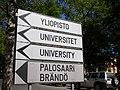 Yliopisto University signs in Vaasa 20180527.jpg