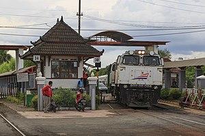 Yogyakarta railway station - Train at Tugu station