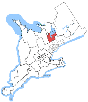 York—Simcoe - York—Simcoe in relation to Southern Ontario ridings