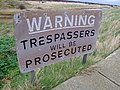 You are not welcome here^ - geograph.org.uk - 310402.jpg