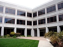 :en:YouTube :en:headquarters at 1000 Cherry Avenue in :en:San Bruno, California. YouTube moved into this building in October 2006, after outgrowing their previous headquarters in a loft above a pizzeria.