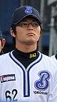 Yuki Takamori, infielder of the Yokohama BayStars, at Yokohama Stadium.JPG