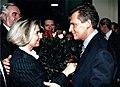 Z Aleksandrem Kwaśniewskim- gratulacje 1995 po wyborach prezydenckich.jpg