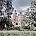 Zicht op de achtergevel en traptoren van voormalige pastorie - Schelluinen - 20384509 - RCE.jpg