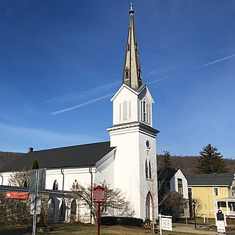 Washington Township, Morris County, New Jersey - The Zion Lutheran Church in Long Valley located near the intersection of Route 513 and Route 517.