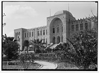 Zionist activities around Haifa. Hebrew Technical Institute. Main bld'g (i.e., building) & gardens. Work in present form begun in 1925. LOC matpc.02677.jpg