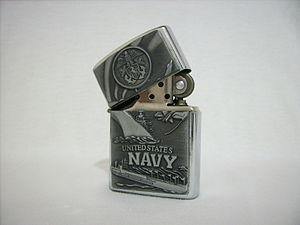 Navy Zippo lighter.