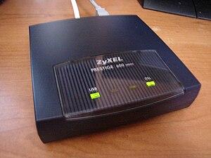 ZyXEL - ZyXEL Prestige 600 series DSL modem.