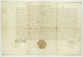 Zygmunt II August król polski podaje do wiadomości, iż na sejmie piotrkowskim w roku ubiegłym zostało zatwierdzone prawo składu miasta Poznania.png