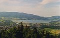 Zywiec and Zywiec Lake from Grojec 1997.jpg
